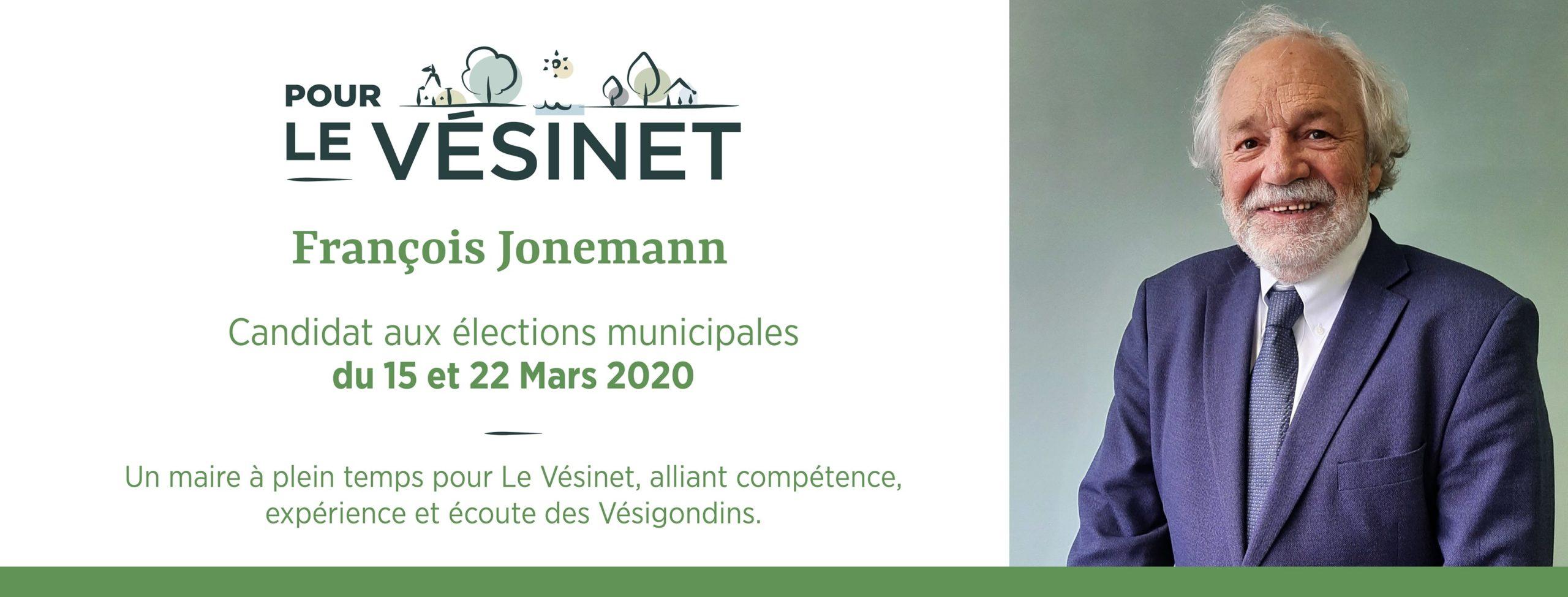 François Jonemann (Pour Le Vésinet) - Dynamiser Le Vésinet, tout en préservant son identité