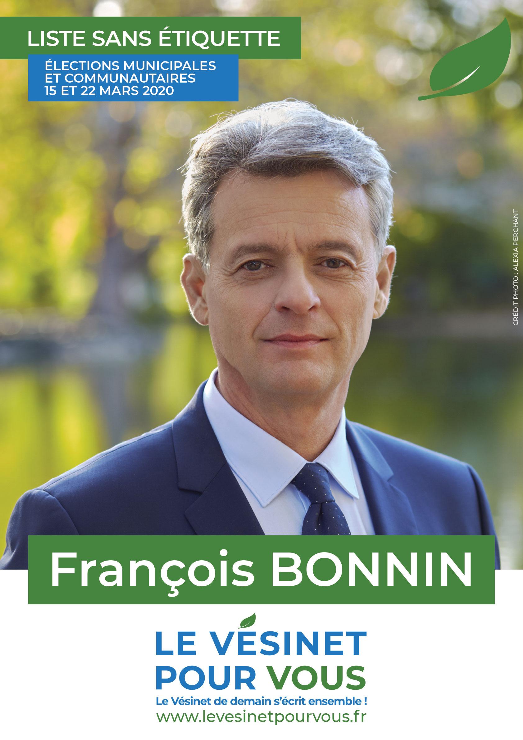 François Bonnin (Le Vésinet pour vous) - Le Vésinet de demain s'écrit ensemble.